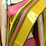 Yellow Cotton Saree With blouse piece