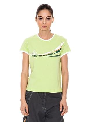 Iguana T-Shirt Avenal (limette/weiß)