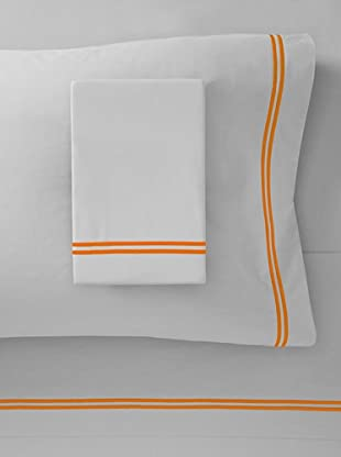 Mason Street Textiles Two Cord Sheet Set (Steel/Bright Orange)