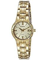 Citizen Analog Gold Dial Women's Watch - EU6022-54P