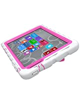 Gumdrop Cases Hideaway Rugged Case with Stand for Dell Venue 8 Pro Atom Tablet (White-Pink)