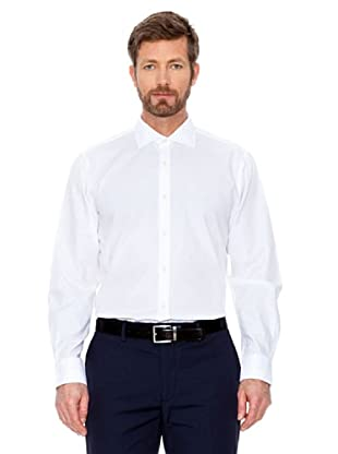 Cortefiel Camisa Micro Cuadro (Blanco)