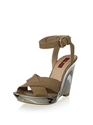 7 for All Mankind Women's Tiarra Wedge Sandal (Taupe)