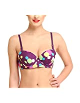 Glus LUV BODY Underwire T-shirt Bra, Color-Purple, Cup-B (38)