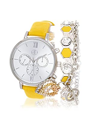 Arm Candy Women's NXS5290M1-YE Yellow/White Stainless Steel/Leather Watch