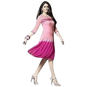 Viva N Diva Embroidered Kurti - Pink