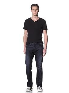 Dylan George Men's James Slim Coated Jeans (Hazzard Blue)