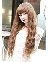 X&Y Angel New Fashion Fluffy Healthy Long Curly Kanekalon Full Wig As Real Hair Brown Aq161
