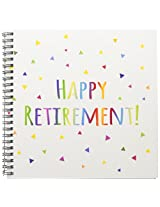 3dRose db_202096_1 Happy Retirement Colorful Rainbow Text Celebrating Retiring from Work Drawing Book, 8 by 8""