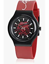 Ne-Rd Red/Black Analog Watch Ed Hardy