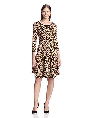 Chetta B Women's Animal Print Sweater Dress