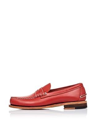 Sebago Zapato Mocasín Con Antifaz (Rojo)