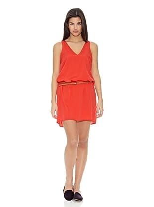 Springfield Vestido Asimetrico (Rojo)