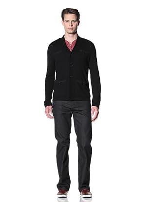 John Varvatos Star USA Men's Shawl Collar 4-Pocket Cardigan