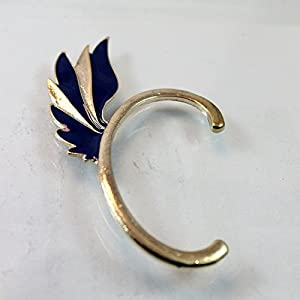 Neon Feather Ear Cuffs (Blue)