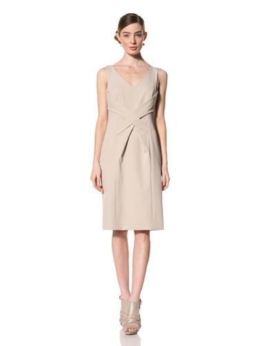Magaschoni Women's Sleeveless V-Neck Dress (Mica)