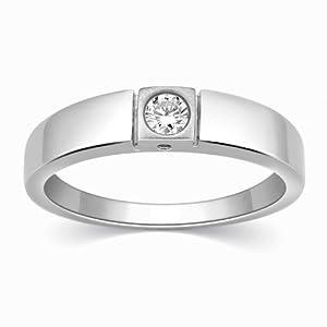 Designer Single Diamond Platinum ring for Men