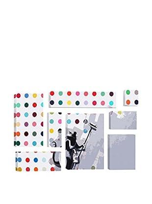 Banksy Rat Spots Damien Hirst 8-Piece Giclée On Canvas