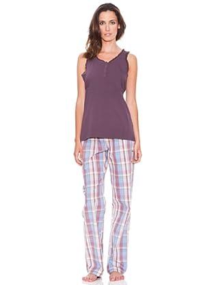 Women secret Pijama Largo Mc Rosebloom (Rosa / Morado)