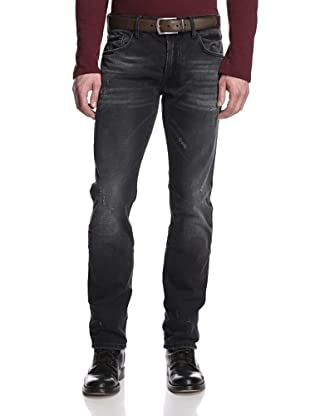 Rockstar Denim Men's Slim Fit 5 Pocket Faded Jeans (Black)