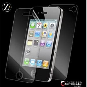 ZAGG iPhone 4用 保護フィルム invisibleSHIELD Full Coverage for iPhone 4 zgivspho ootnb