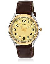 Ti000V70300 Brown/Golden Analog Watch