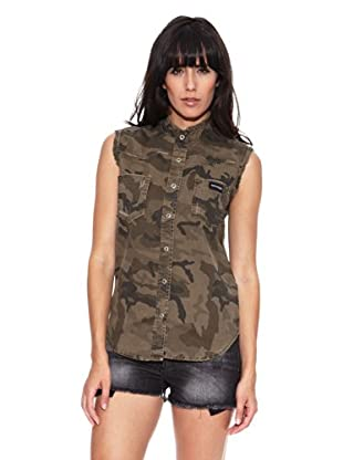 Heartless Jeans Camisa Lou Chemise Basique Heartless Army (Verde)