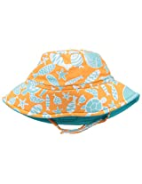 Flap Happy Baby Girls' Polyester UPF 50+ Fun In The Sun Hat, Tangerine Tide, Small