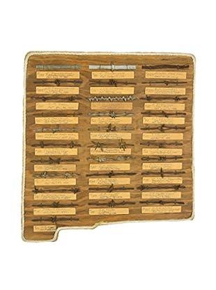 Uptown Down Vintage Handmade Barbed Wire Display Board