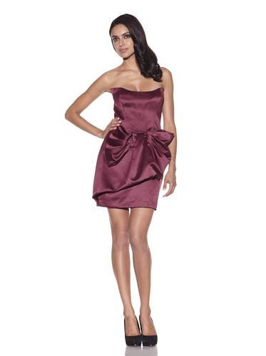 Foley + Corinna Women's Satin Bow Dress (Wine)