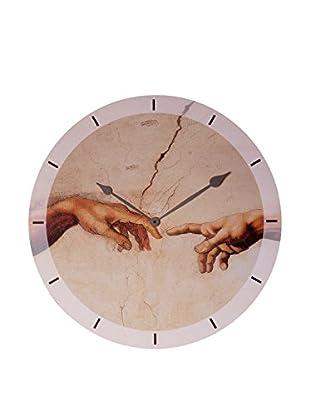 Artopweb Reloj De Pared Michelangelo Creation Of Adam