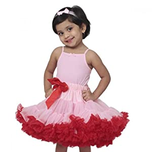 Tutu Couture Light Pink with Red