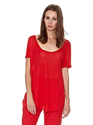 Mango Camiseta Airport (Rojo Valentino)