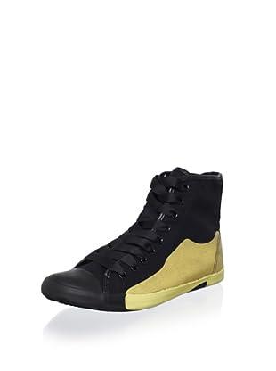 Be&D Women's Oxford Sneaker (Black/Gold)