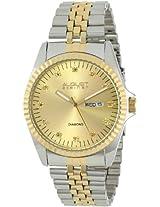 August Steiner Men's AS8047TT Diamond Stainless Steel Bracelet Watch