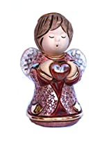 Rinconada Angel with heart Figurine, Ruby