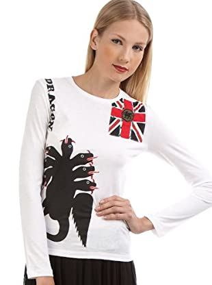 Custo T-Shirt Lek Dragon (Weiß)