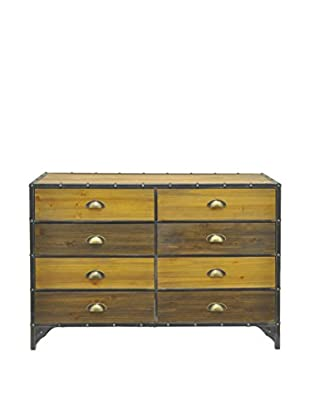 Three Hands 8-Drawer Wood & Metal Cabinet, Brown