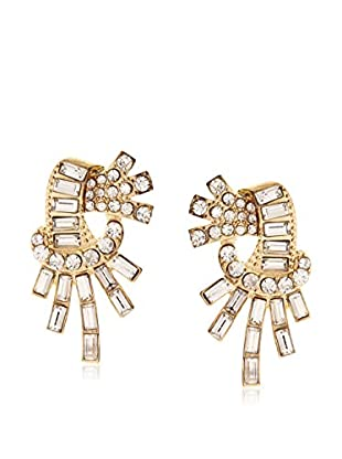 Stellar NYC Geometric Post Earring with Crystal Baguet Detail