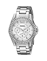 Fossil End-of-Season Riley Analog Silver Dial Women Watch - ES3202