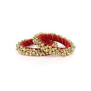 Ratnakar Fashion Red Bangle For Women(Size:2.6)