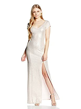 Rare London Maxikleid Metallic Cap Sleeve Maxi