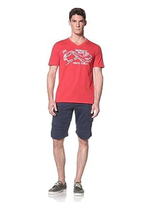 Darring Men's Monaco V-Neck Tee (Red)