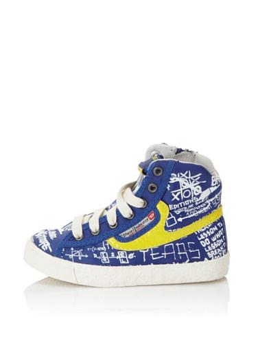 Diesel Kids Upward Sneaker (Blue/Yellow)