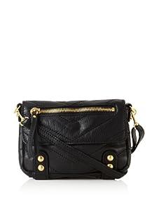 Linea Pelle Women's Dylan Chevron Shoulder Bag (Black)