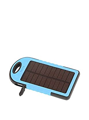 iPM 5000 mAh Solar Powered Flash Charger for Smartphones, Blue
