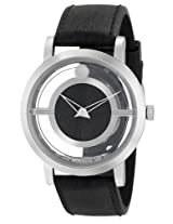 Movado Men's 0606567 Translucent Museum Stainless Steel Case w/ Black Rubber Dial Watch