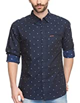 SPYKAR Men Cotton Navy Casual Shirt (X-Large)