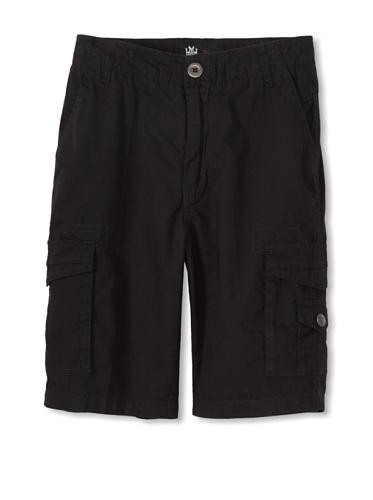 Micros Boy's Woven Cargo Shorts (Black)