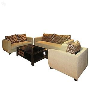 Evok Sofa Set with Beige Upholstery - Blossom